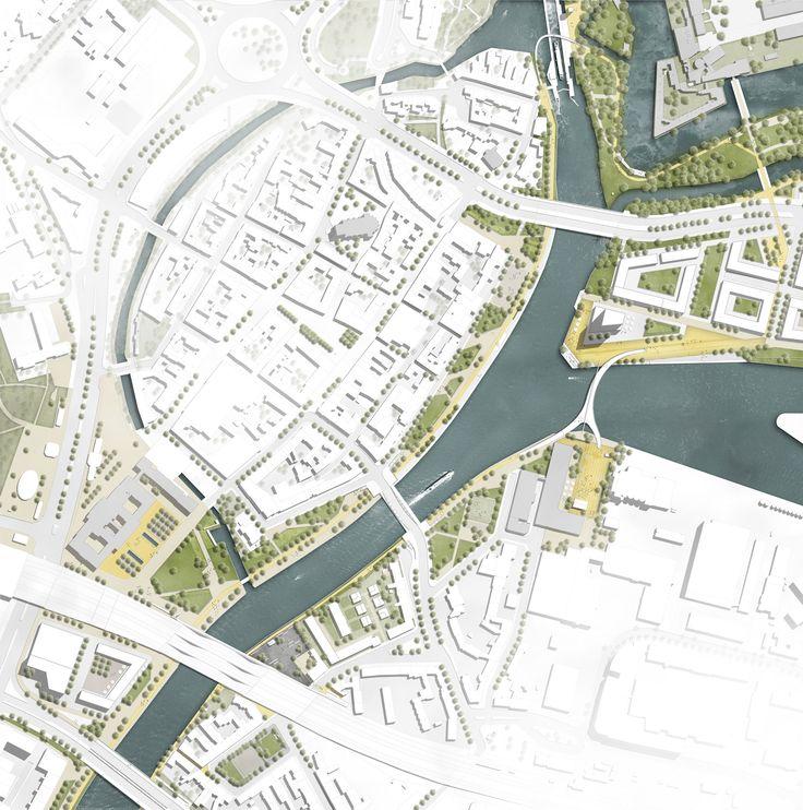 436 best urban site plans master plans maps images for Site plan with landscape