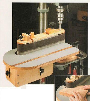 Ah! E se falando em madeira...: Lixadeira - feita a partir de furadeira de bancada