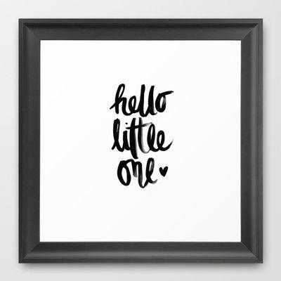 HELLO LITTLE ONE Framed Art Print