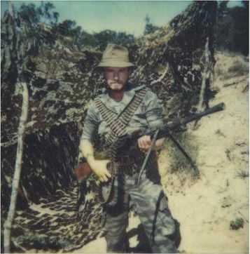 Soviet military translator Igor Zhdarkin during The Battle of Cuito Cuanavale. Photograph taken sometime during 1988.