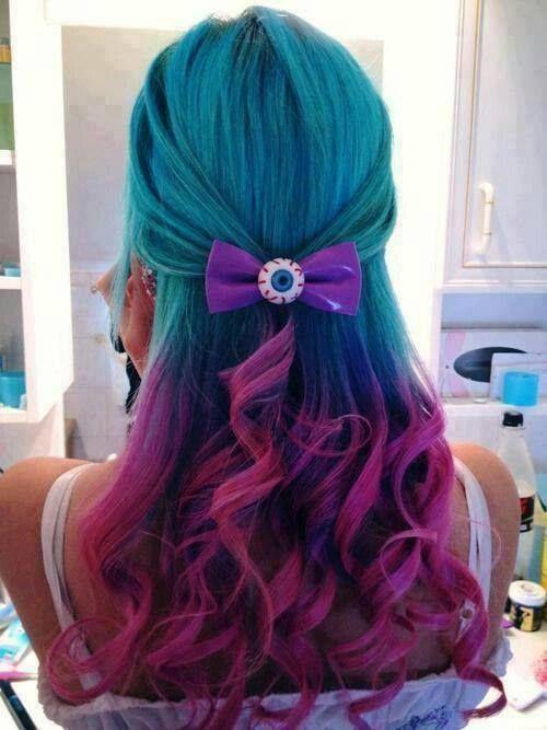 Teal & Magenta Hair