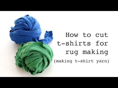 How to Cut T-Shirts for Rug Making - My Poppet Makes