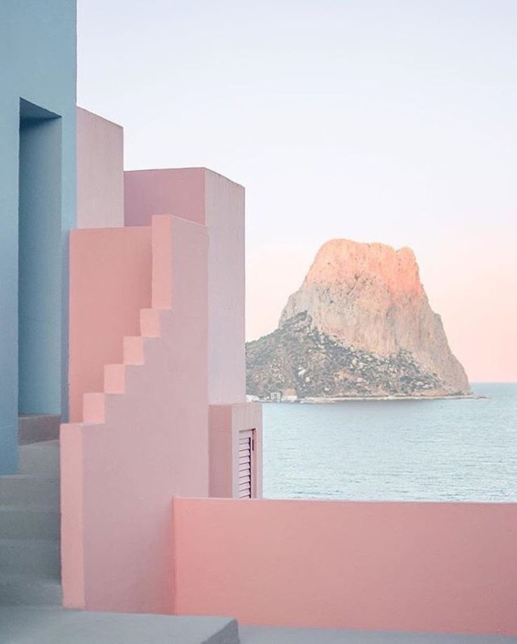 INSPIRATION La Muralla Roja, Spain by architect Ricardo Bofill #modern #architecture #spain #color
