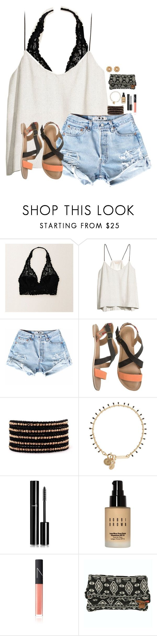"""""""I love aerie!!"""" by madison426 ❤ liked on Polyvore featuring Aerie, H&M, O'Neill, Chan Luu, Isabel Marant, Chanel, Bobbi Brown Cosmetics, NARS Cosmetics, Billabong and Tory Burch"""