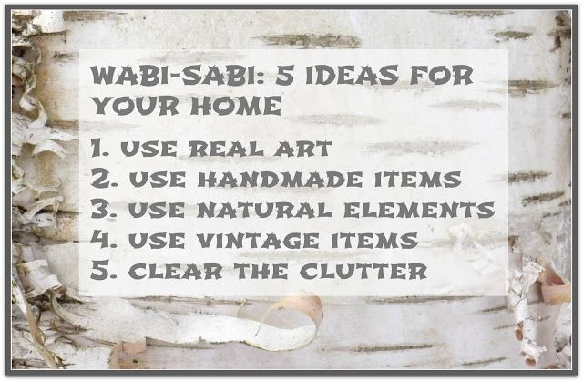 Wabi-Sabi: 5 Ideas for Your Home