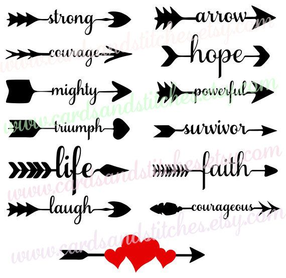 Arrow Words Survivor Svg - Arrows Svg - Digital Cutting File - Graphic Design - Vector File - Instant Download - Svg, Dxf, Jpg, Eps, Png by cardsandstitches on Etsy