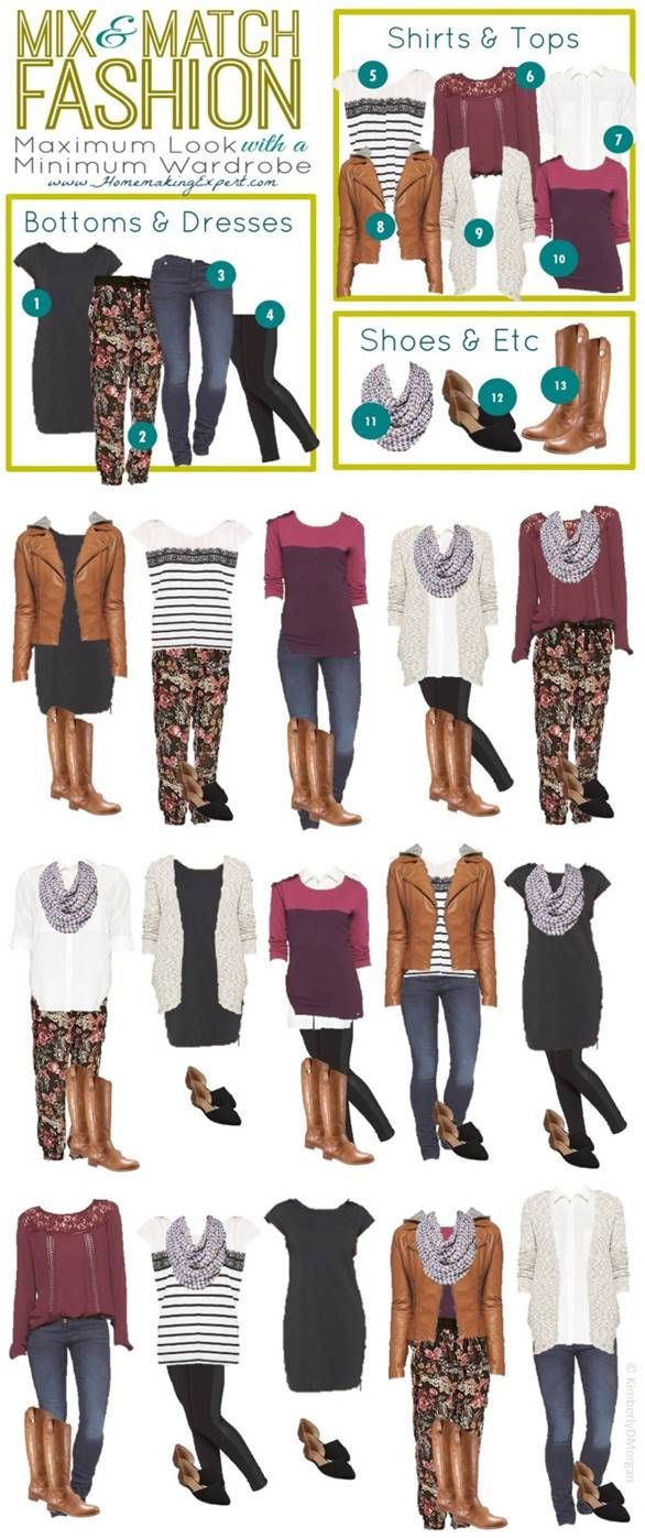 These beautiful outfits were created using just a handful of apparel pieces. And they are inexpensive Target pieces! Check it out!