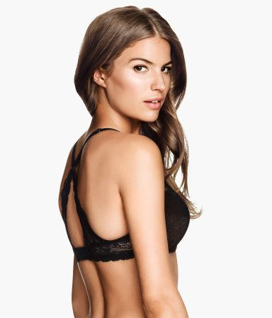 This would be fantastic for summer tanks. Lace Push-up Bra Black $17.95 - best part it comes in my size!