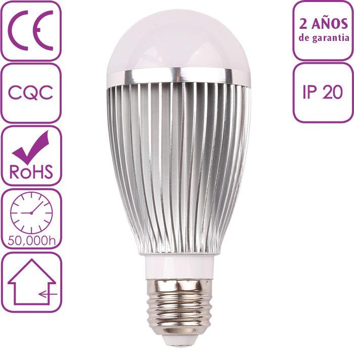 Bombilla LED de rosca E27 7W Blanco Cálido 3000K
