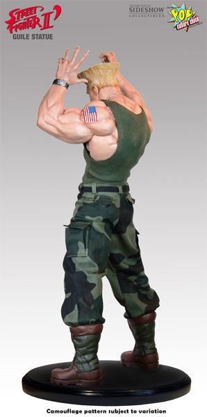 Sideshow Collectibles is proud to bring you this fantastic new addition to Pop Culture Shock's Street Fighter Series. The Guile Statue is a strictly limited to