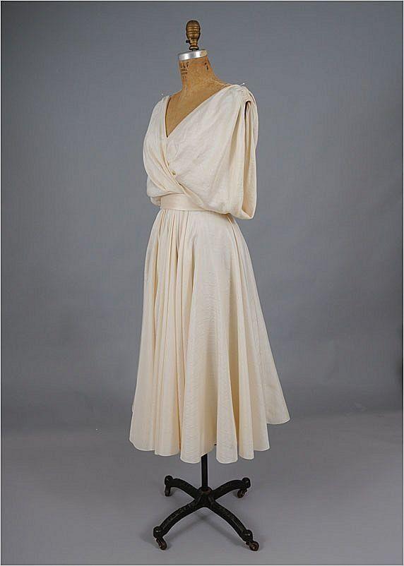 50s - 60's HELEN ROSE Silk Goddess Dress *Neiman Marcus ...
