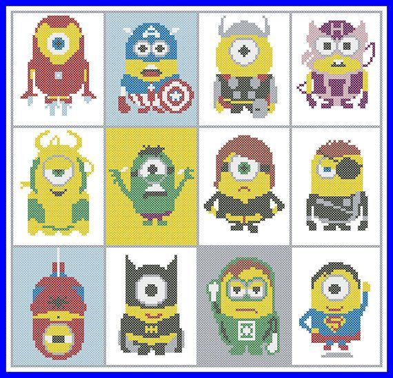 BOGO FREE Minions Characters Marvel and DC Captain America