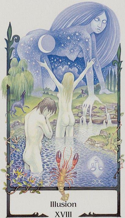 XVIII. The Moon: Tarot of the Old Path