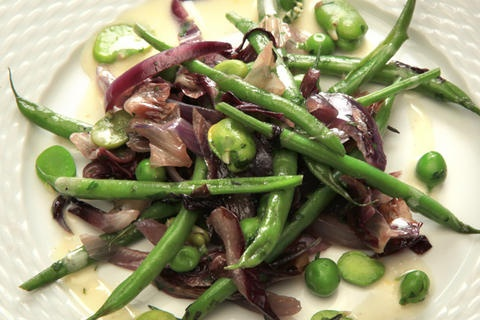 Warm Fava Bean And Chanterelle Salad With Poached Eggs Recipes ...