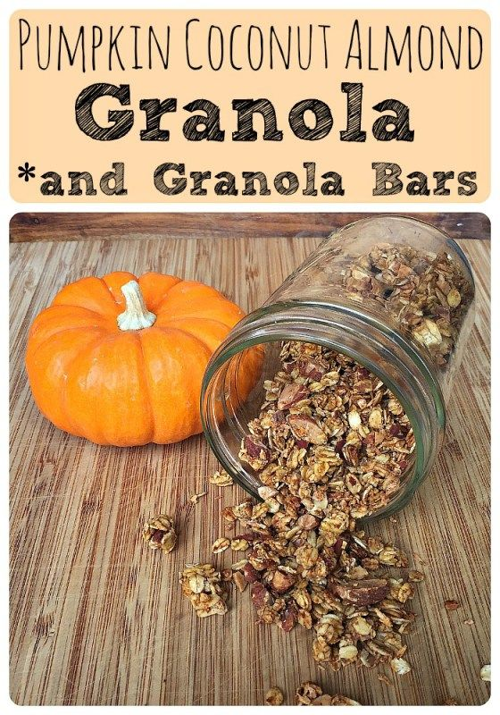Pumpkin Coconut Almond Granola and Granola Bars