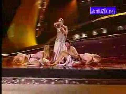 """The live performance of the Turkish entry in the Eurovision Song Contest 2003 (Riga, Latvia) which was """"Everyway That I Can"""" performed by Sertab Erener. At the end of the contest, Turkey won with 167 points."""