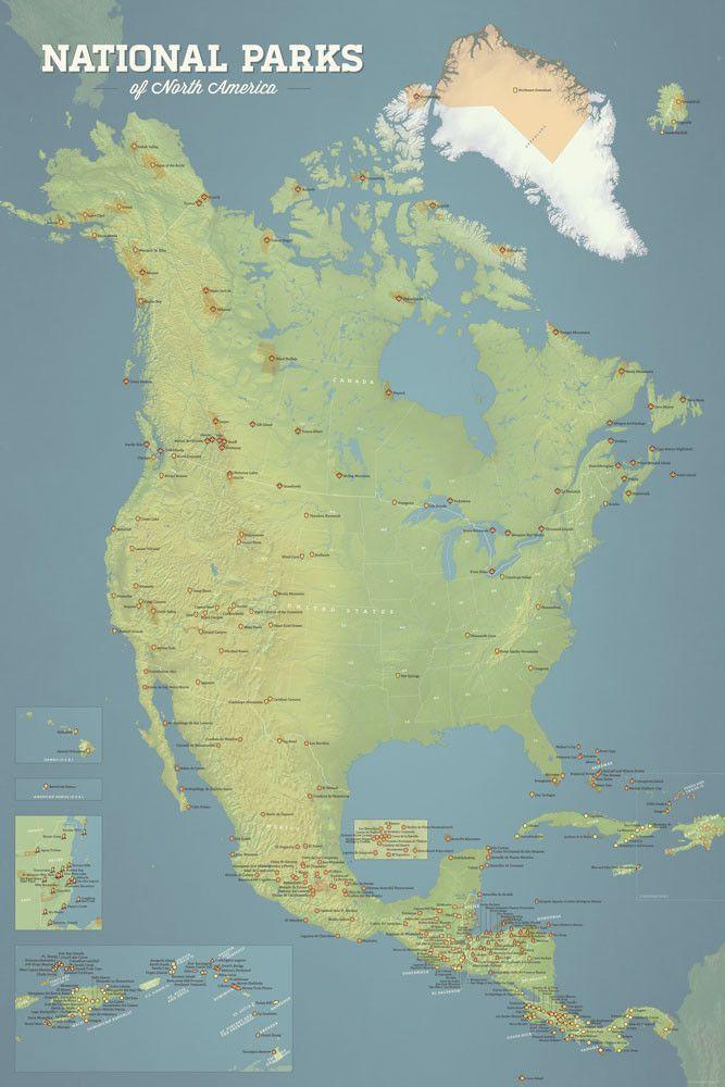 Top Best National Parks Map Ideas On Pinterest National - Map of all national parks us and canada