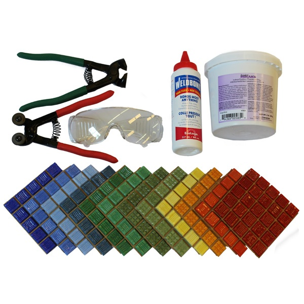 Mosaic Starter KitCrafts Ideas, Safety Glasses, Glasses Cutters, Starters Kits, Mosaics Starters, Mosaics Glasses