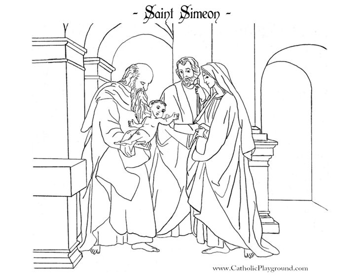 saint simeon coloring page catholic playground