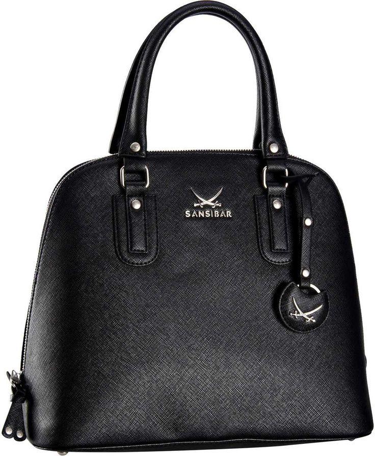 Sansibar Sansibar Chic Zip Bag Hoch Black (innen: Grau) - Handtasche