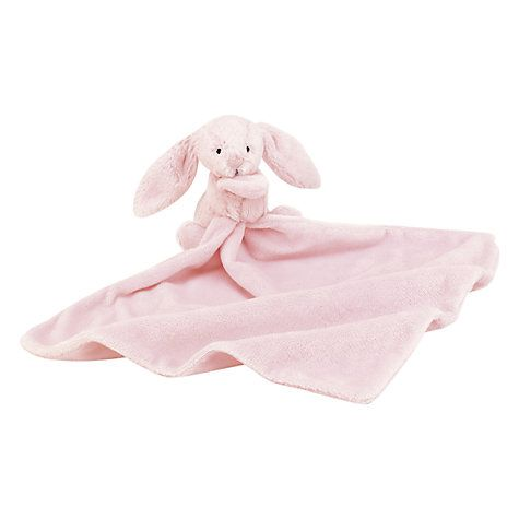Buy Jellycat Bashful Bunny Baby Blankie, Pink Online at johnlewis.com