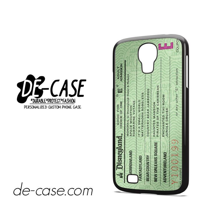 Green Disneyland Ticket DEAL-4862 Samsung Phonecase Cover For Samsung Galaxy S4 / S4 Mini