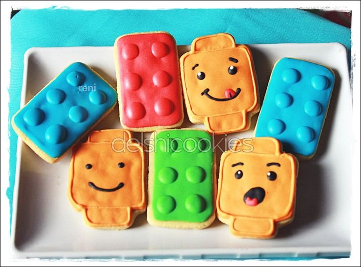 Lego Cookies  Inspired by sweetsugarbelle. Love her design very much