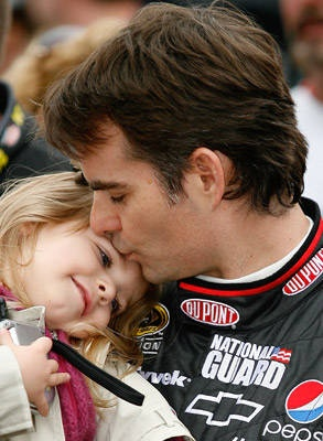 Monday, July 23, Jeff Gordon [Image via FOX Sports] -- There is nothing more sexy than a man who loves his kids...