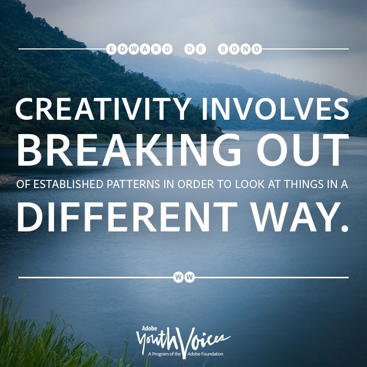 """If Things Were Different Quotes: """"Creativity Involves Breaking Out Of Established Patterns"""