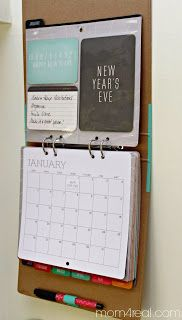 Great, simple calendar...could hang school lunch calendar here too!