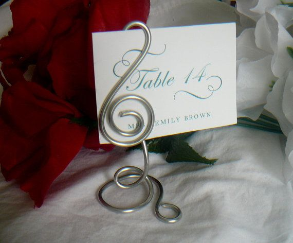 musician wedding table number stand treble by 800 wedding place card
