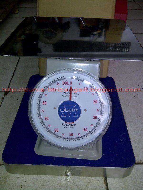 Harga Timbangan Duduk Camry,Kapasitas 100kg,Pan size 32cm x 32cm,Harga..