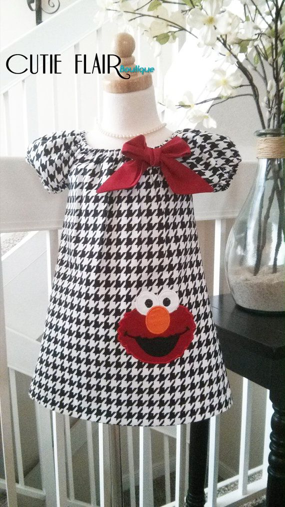 Sesame Street Elmo Dress Elmo Birthday Dress by cutieflair