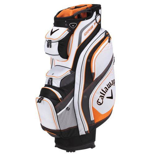 The Callaway Org. 14 has been Callaway's most popular cart bag for years and with updated pockets, an improved strap system and an E-Trolley base, this bag will continue to be a leader in the industry.