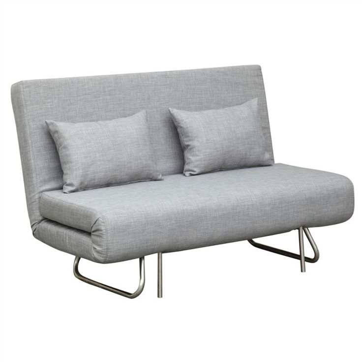 Finemod Imports Modern Sabatino Loveseat Sofa Bed in Gray
