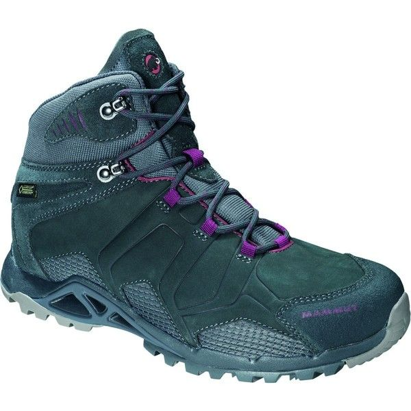 Mammut Comfort Tour Mid GTX Surround Boot featuring polyvore, women's fashion, shoes, boots, mammut, polka dot shoes, polka dot wedge shoes, twisted boots and wedge heel shoes
