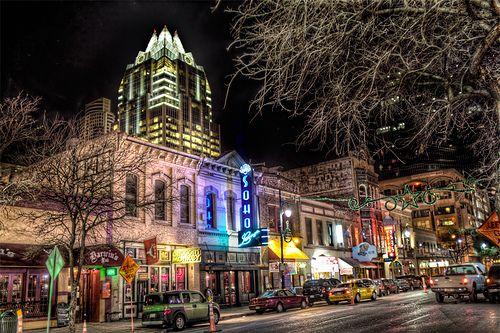 Sixth Street - Downtown Austin, Texas.