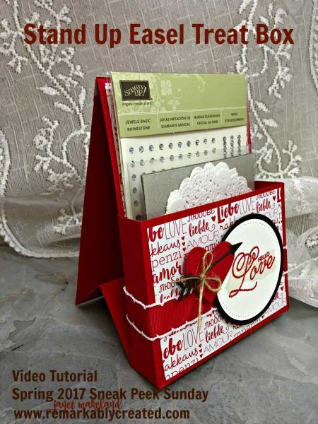 Stampin' UP! Spring 2017 Catalog – Sneak Peek Sunday – Stand Up Easel Treat Box