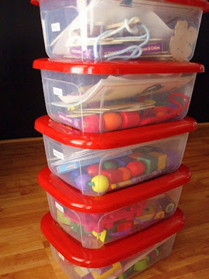 Fun Boxes / Quiet Boxes-good way to organize & store centers