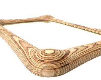 """Espejo de madera colgante de pared para sala de estar, dormitorio o pasillo """"MAYA"""" el espejo de madera contemporáneo por SurreyWoodsmiths Reino Unido basado en muebles"""