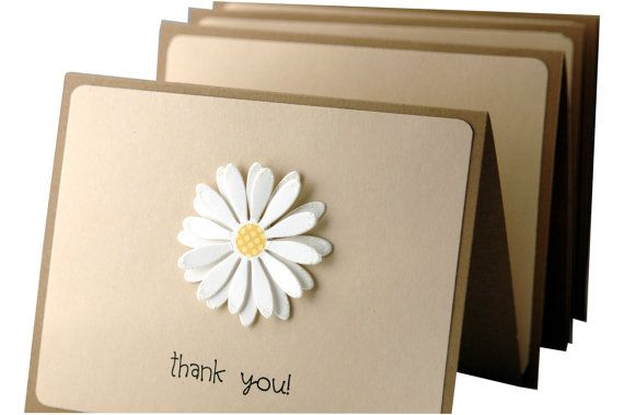 Thank You Cards simple thank you notes handmade by ecoPaperie, $10.00