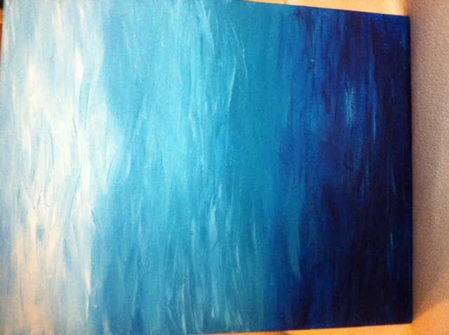 Ombre Acrylic on Canvas Painting.
