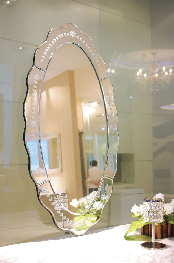 Ablaze Celeste Decorative Oval Wall Mirror TG