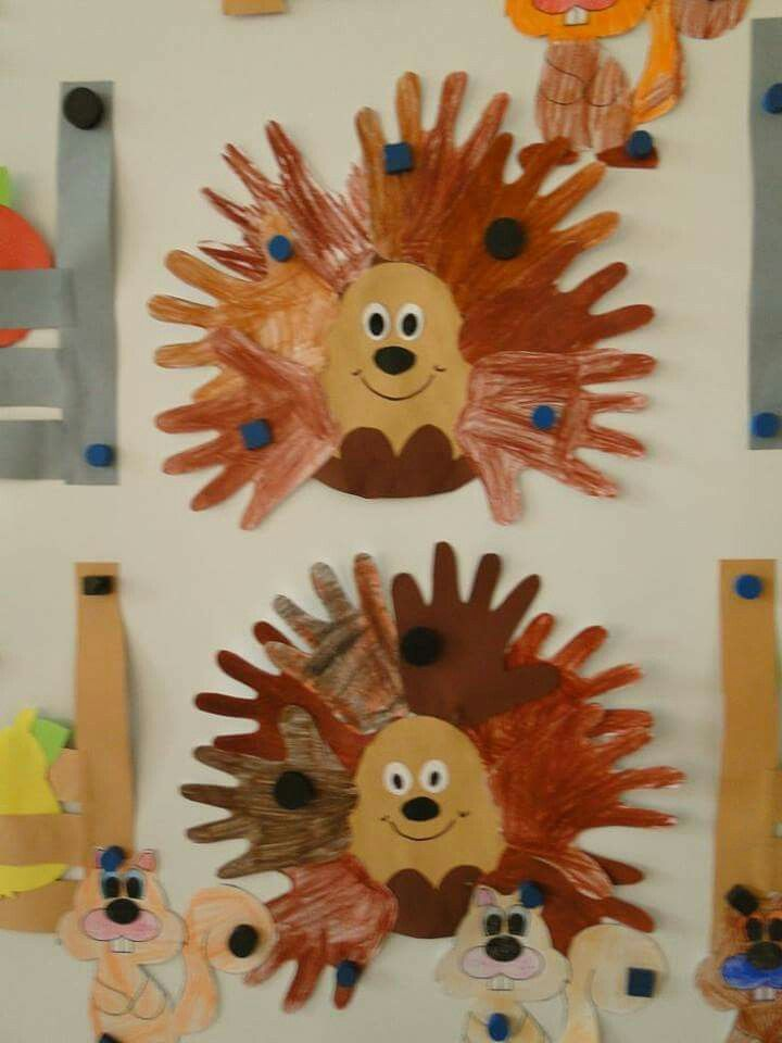 Hedgehog craft for kindergarten