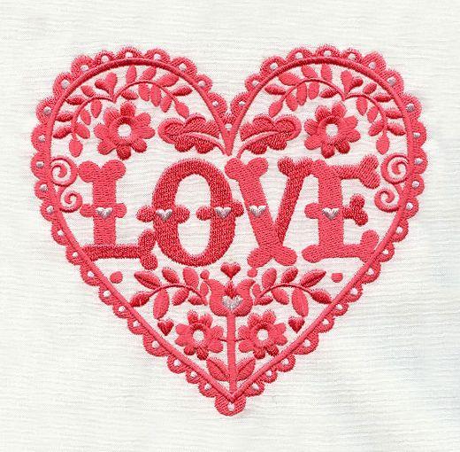 Love Embroidery Pattern by Alexandra Snowdon, via Flickr