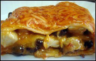 Enchilada Lasagna - Julie's Eats & Treats--use corn tortillas or gf flour tortillas