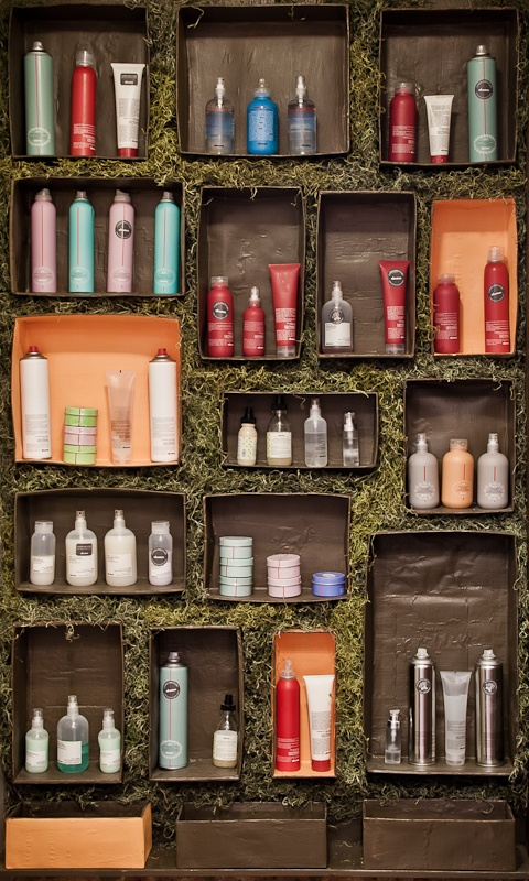 The Circle Salon in Chicago recycled and painted old shoe boxes to house their Davines products! We'd love to see your Salon's display! Be creative, be out-of-the-box, be sustainable and have fun! Tag us in a pin or post a picture on our facebook page and we'll add it there and here!