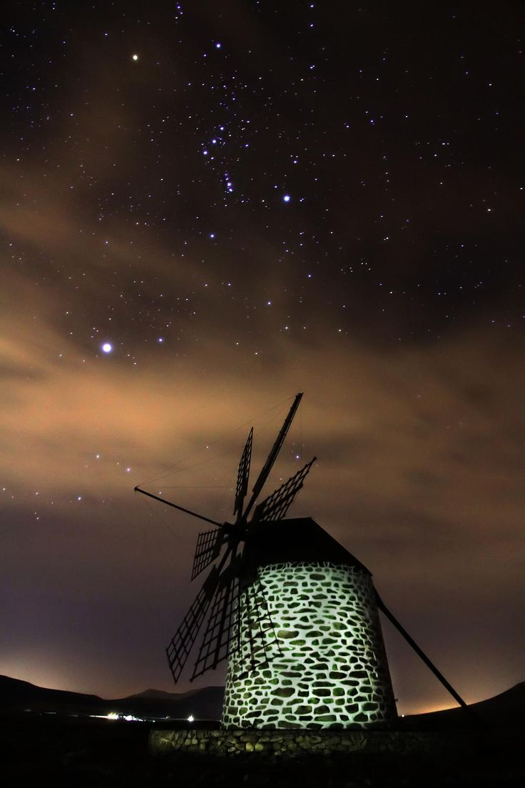 This completely sums up Fuerteventura in a photo, the old style windmill beneath some of the most spectacular stars in the world.