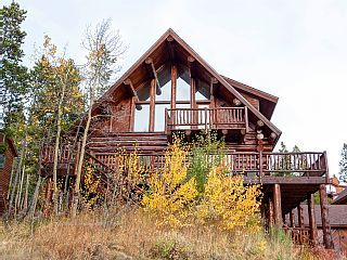 Magnificent+Log+Home+with+Breathtaking+Views+and+Stunning+Mountain+Decoration+++Vacation Rental in Breckenridge Area from @homeaway! #vacation #rental #travel #homeaway