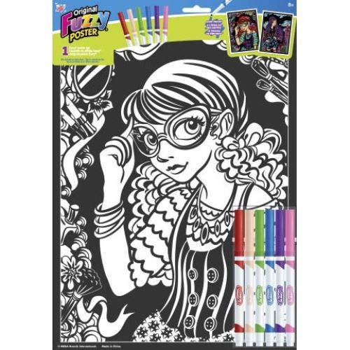"""11"""" x 15"""" Fuzzy Poster Set by RoseArt - Fashion Girl"""